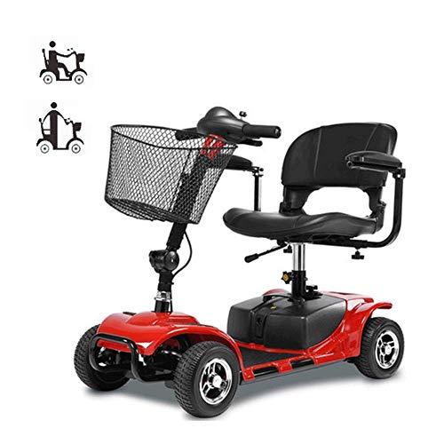 FTFTO Inicio Accesorios Ancianos Discapacitados Scooter eléctrico de Cuatro Ruedas para Adultos/discapacitados Plegable/Ligero/Portátil