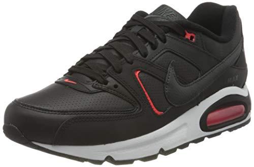 Nike Herren Air Max Command Sneaker, Black/Dark Smoke Grey-Bright Crimson-White, 42.5 EU
