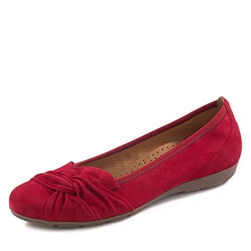 Gabor 24.150 Damen Ballerinas,Frauen,Flats,Sommerschuh,klassisch Hovercraft- Luftkammernsohle,Übergrößen,Rubin,6.5 UK