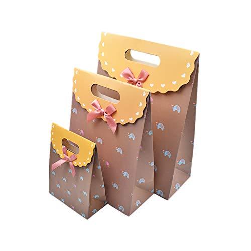 Goodplan Papiergeschenk Taschen Box Bow Bowknot befestigt für Urlaub Hochzeit Abschluss Party Favor Geschenke Kaffee
