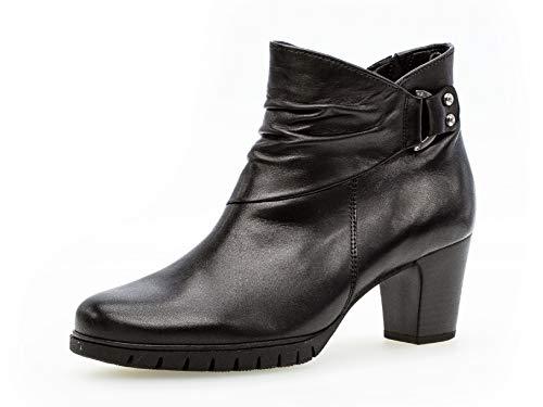 Gabor Damen Stiefelette 36.592, Frauen Ankle Boots,Stiefel,Halbstiefel,Bootie,knöchelhoch,Reißverschluss,schwarz (Micro),37.5 EU / 4.5 UK