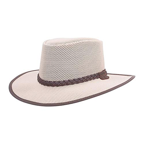 American Hat Makers Soaker Mesh Sun Hat for Men and Women — Eggshell, X-Large