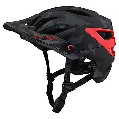 Troy Lee Designs Adult | All Mountain | Mountain Bike Half Shell A3 Helmet Camo W/MIPS (Gray/Red, XL/XXL)