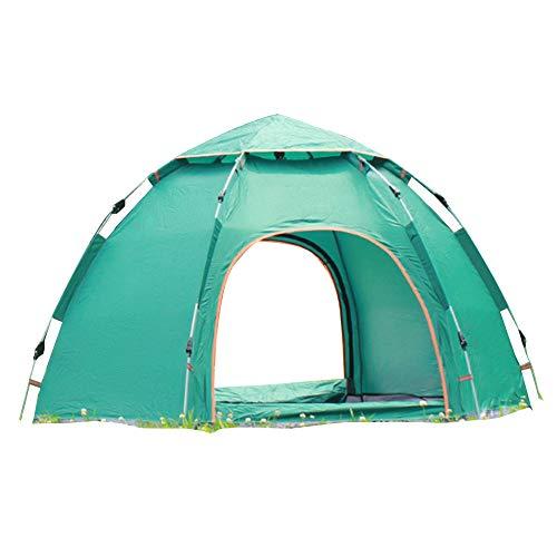 Wsaman 3-4 Personen Leichtes Schnellaufbau-Zelt, Portable Beach Zelt Gartenpavillon Pop up Pavillon Campingzelt Anti-UV für Trekking, Camping Outdoor Festival Outdoor-Strand Tents,Grün