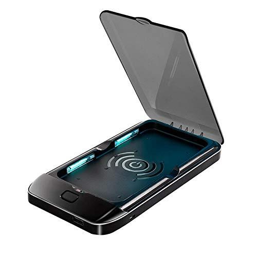 Sterilisator voor mobiele telefoons, draadloze oplader voor ultraviolett-sterilisator, multifunctioneel, voor mobiele telefoon, sterilisatie blackwithgray
