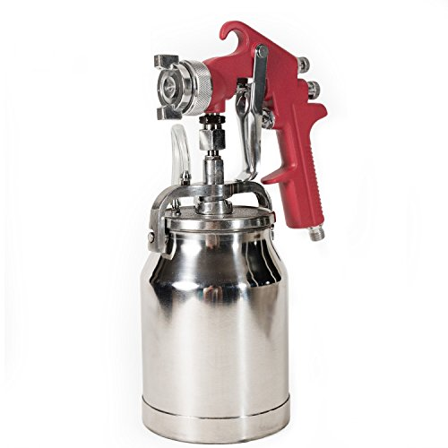 Thunder Hardware 4001J 34 oz Siphon Feed Spray Gun - 1.8mm Nozzle for a Variety of Low Viscosity Paints, Such as Lacquer, Enamel, Stain, Urethane with air Flow and Paint Pattern Control knob