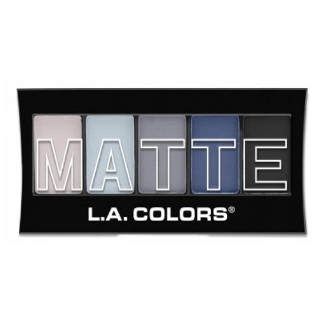 シードセットアップ寝室(3 Pack) L.A. Colors Matte Eyeshadow - Blue Denim (並行輸入品)