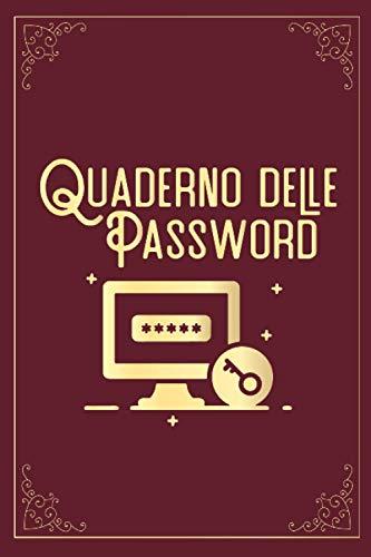 Quaderno delle Password: Per non dimenticare