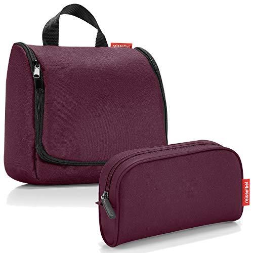 reisenthel Exklusiv-Set: toiletbag Kulturtasche Plus GRATIS makeupcase Kosmetiktasche Etui (aubergine)