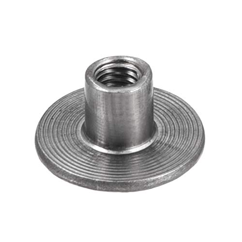 uxcell M4x15x1.1mm Tee Nut Carbon Steel T-Nut Mounting Hardware Fitting Fastener Through Hole Flange Insert Female Thread 30Pcs