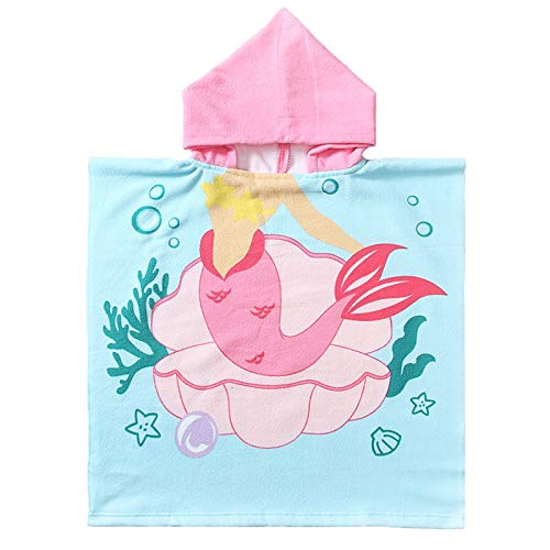 NovForth Kids Beach Towel for Boys Girls, Hooded Bath Towel Wrap, Toddler Pool Towel with Hood, Alligator