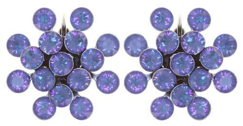 Konplott Ohrringe/Brisuren Magic Fireball 21mm silver shiny heaven crystal ocean de lite