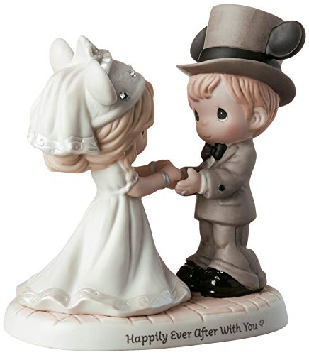 Precious Moments Disney Disney Wedding Couple Figurine - Happily Ever After With You #191061