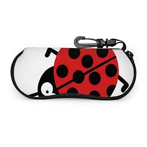 VimcustomPr Beetle Nature - Funda blanda con cremallera para gafas con clip para cinturón