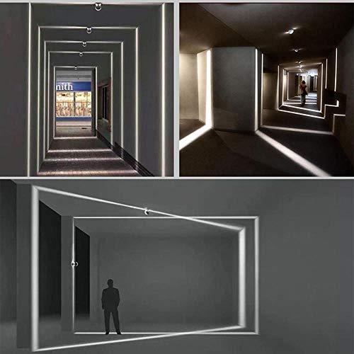 Wandlampe LED Wandleuchten LED Innen Wandbeleuchtung Metall Hotel Wohnzimmer Innenwand LED Wandleuchte Gang Flur Tür und Fenster Beleuchtung Linie Lampe Rahmen Licht Designer Veranda Wandleuchte