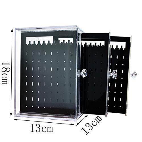 三つの収納板大容量249個収納ホールピアスケースピアススタンド大容量ピアスジュエリースタンドピアスディスプレイクリアブラック