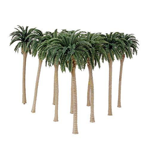 Ruiting 10 STK Artificial Kokosnusspalmen Landschaft Modell Miniatur Diorama Layout Architektur Bäume für DIY Landschaft Landschaft Natur Grün Home dekor