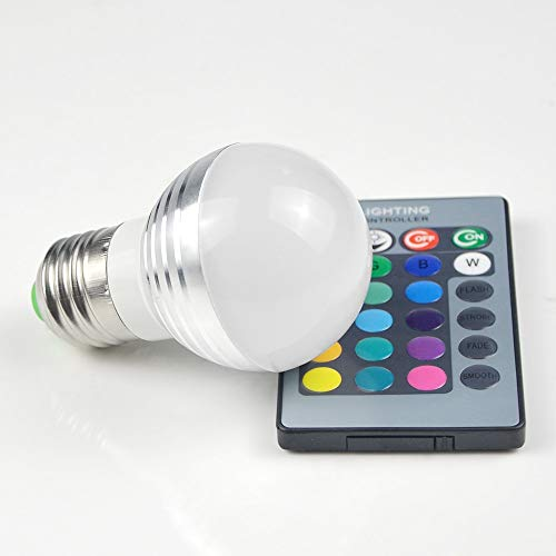 XHSHLID 1 stuk Lovely 16 kleuren RGB atmosfeer LED Night Light E27 5W 110V - 220V LED spotlight lamp lamp + afstandsbediening