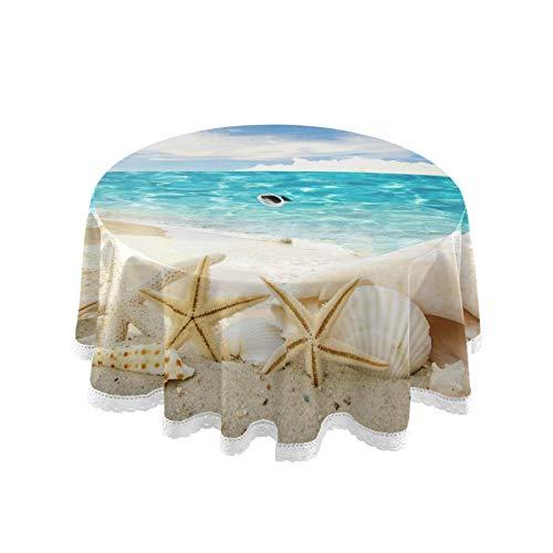 Tovaglia da spiaggia con buco per ombrellone, impermeabile, impermeabile, con cerniera, per tavolo da giardino, per barbecue, picnic, 152,4 cm