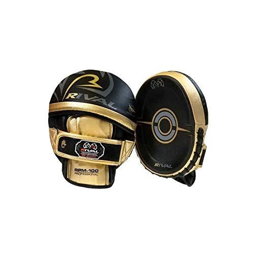 Rival RPM100 - Guantes de boxeo profesionales, color negro y dorado