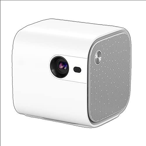 shu Proyector. con Pantalla Compatible con 1080P Full HD, Mini proyector de vídeo Compatible con TV, HDMI, USB