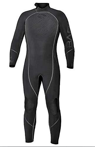Bare 7mm Reactive Full Jumpsuit Wetsuit for Scuba Diving (Black Titan, MD)