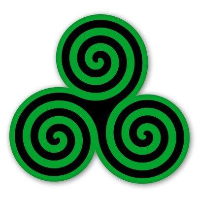 AK Wall Art Triple Spiral Triskele Celtic Vinyl Sticker - Car Window Bumper Laptop - Select Size
