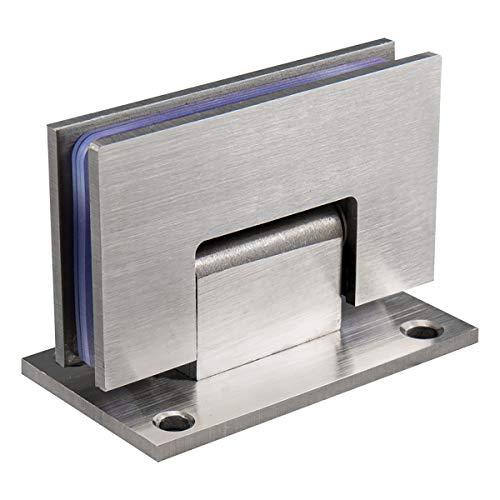 Qrity 90° glazen deur scharnier muur gemonteerde kast deur glazen band voor badkamer glazen deur/glazen vitrine, 4mm dik roestvrij staal, voor 8-12mm dikte deur