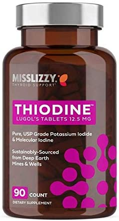 Thiodine Lugol's Max 69% OFF Iodine Direct store Tablet Easy-to-Swallo 12.5mg Supplement