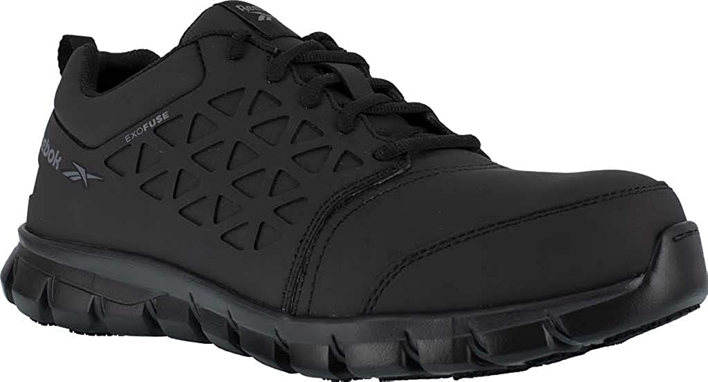 Reebok Work Sublite Cushion Safety Toe Athletic Work Shoe Industrial, Black