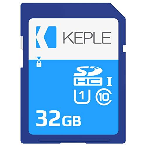Keple 32GB SD Speicherkarte High Speed SD Speicher Karte Kompatibel mit Canon EOS 1300D, 800, M10, 7D Mark II, M2, 750D, 760D, Kiss M, 5DS X DSLR Digital Camera | 32 GB UHS-1 U1 SDHC Card