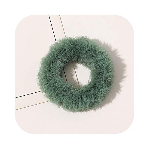 2021 invierno de piel coleteros peludos elásticos bandas para el pelo para las mujeres niñas ponytail titulares cuerda suave felpa pelo lazos accesorios-18