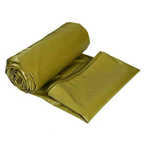Gxmyb Persenning Verdicken Sie Wasserdichte Plane mit Ösen Sonnencreme Leinwand Markise Regenschirm Plane Blatt Outdoor - 520g / m², Army Yellow (größe : 3mx2m)