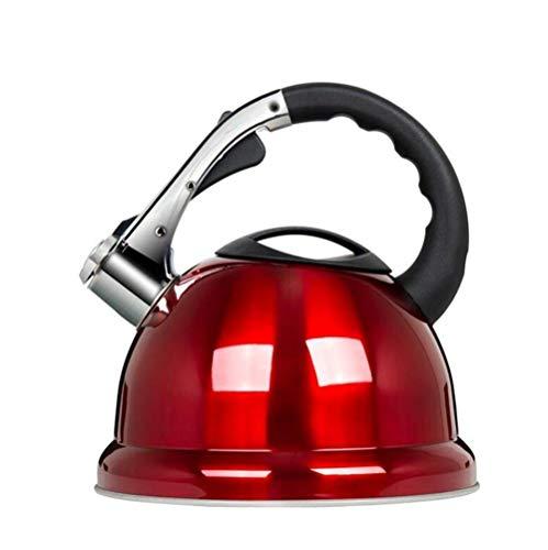 Tetera silbante 3,5 litros de Acero Inoxidable Moderna Whistling Kettle rápido Hervir Cocina Té casero Bebida Caliente for la Pesca Que acampa Gas eléctrica vitrocerámica halógena WHLONG