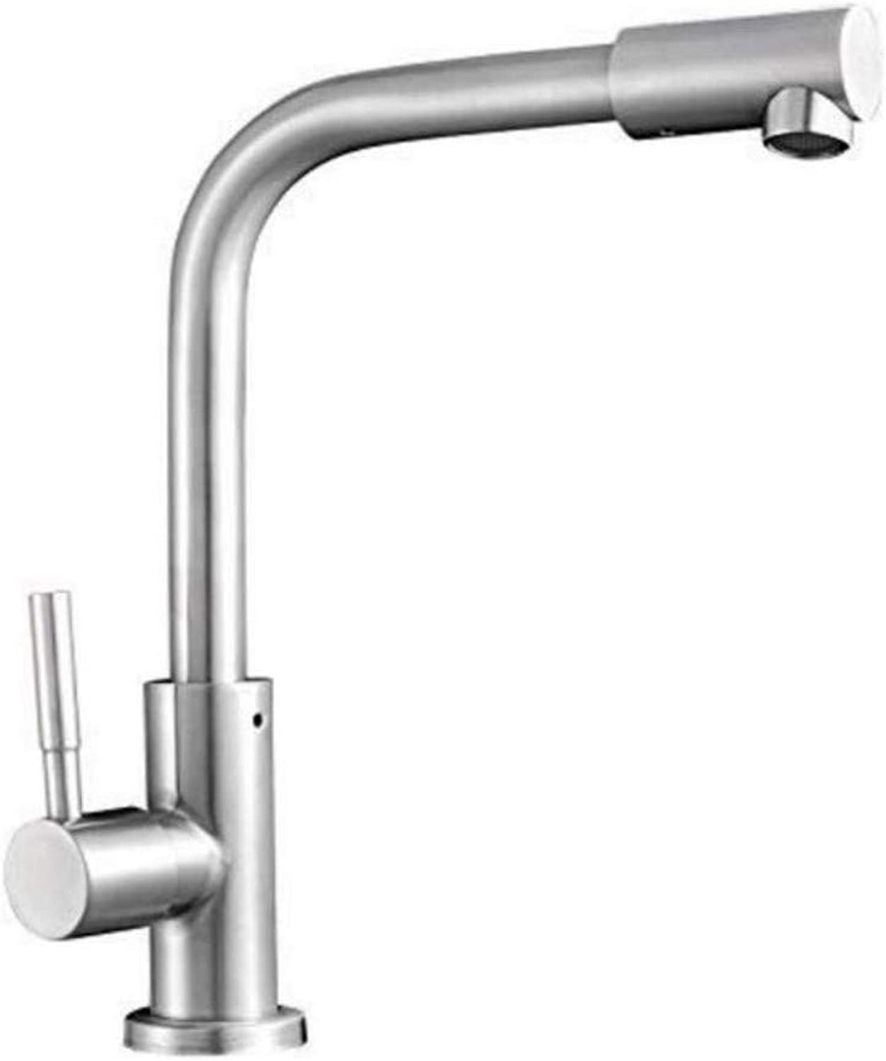 Chrome-Plated Adjustable Temperature-Sensitive Led Faucet Stainless Steel Faucet Single Cold Universal redating Tap