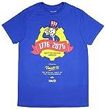 Bioworld Fallout 76 Tricentennial 1776-2076 Vault 76 Vault-Tec Salutes America Officially Licensed T-Shirt Tee (Medium) Blue