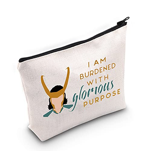 TSOTMO TV Show Inspired Gift I am Burdened with Glorious Purpose Novelty Cosmetic Bag Fans Gift Friendship Gift (glorious PURPOSE)