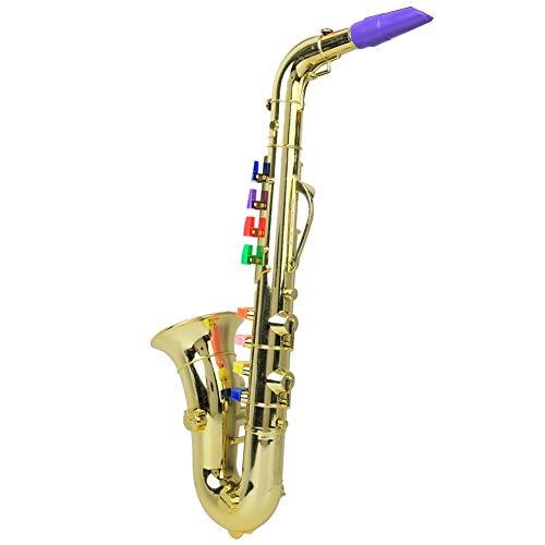 𝐖𝐞𝐢𝐡𝐧𝐚𝐜𝐡𝐭𝐬𝐠𝐞𝐬𝐜𝐡𝐞𝐧𝐤 Kindersaxophon, Saxophon, Minisaxophon Saxophon Modell 8 Tasten Spielzeug S-Saxophon Spielzeug Enthusiast für Kinder(Golden)