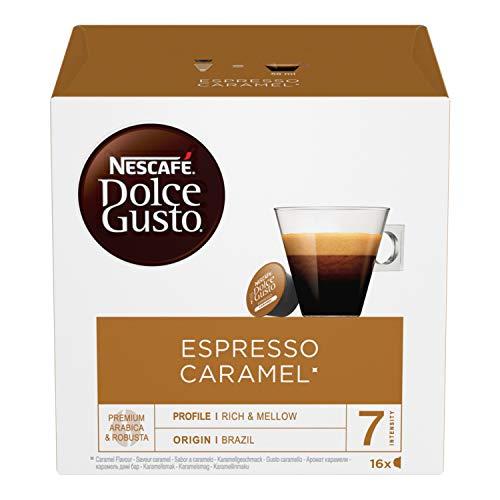 Nescafé Dolce Gusto Espresso Caramel Caffè al Caramello, 3 Confezioni da 16 Capsule (48 Capsule)