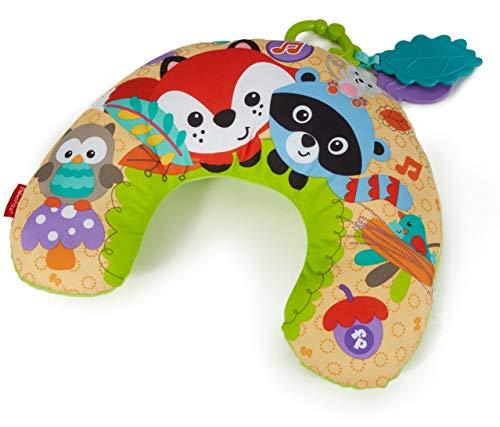 Fisher-Price CDN50 - Waldfreunde Spielkissen, mit abnehmbaren Spielzeugen und Musik, Babyerstausstattung, ab 0 Monaten [Exklusiv bei Amazon]