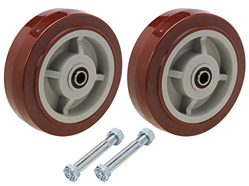 U-Boat Cart Center Wheel Replacement Kit | Includes Two 8x2' Polyurethane Wheels with Axle Bolts