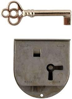 Long Rounded Half Mortise Lock w/Skeleton Key for Left Hand Cabinet Doors | L-40L