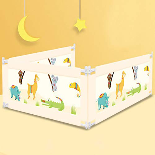 Amazing Deal Techecho Children's Bed Fence Bed Guardrail Extra Long Safety Beds Vertical Lifting Bed...