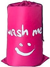 Smile Nylon Laundry Bag Travel Storage Bag Machine Washable Washable Dirty Clothes Storage Bag Drawstring Bag (Color : Rose)