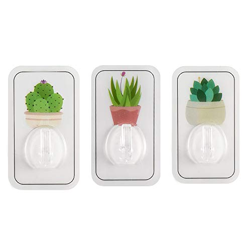 3Pcs Zelfklevende Plant Hook, Huis Muurhaken Met No Boring Voor Keuken Badkamer Toilet Kasten Deur Plafondhanger Hat Towel Robe Keys