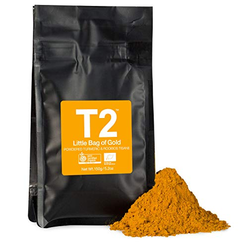 T2 Tea - Little Bag of Gold, Herbal Tea, Loose Leaf Herbal Tea in Resealable Bag, 150g, 5.2oz