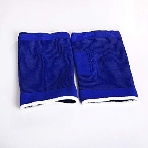 LINBUDAO Blauwe elastische kniebeschermers, blauwe kniebeschermers, kniesteun, elastische beenverbanden