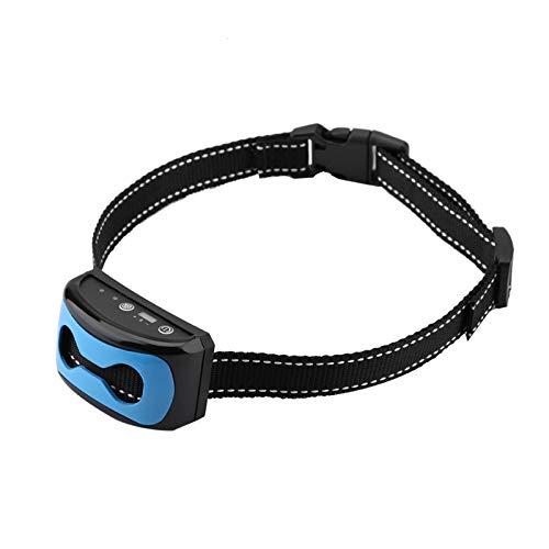 Emoshayoga Collar de ladridos para Perros Detección de ladridos para Perros Collar de Entrenamiento para Mascotas Corrector para Mascotas de 7 Niveles Collar antiladridos para Mascotas con pitido,