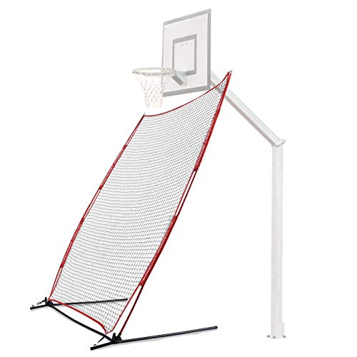Rukket Basketball Return Net Guard and Backstop, Hoop Rebound Back Netting Attachment for Yard, Home & Residential Use, Barrier System for Safety and Retention (Return Net)