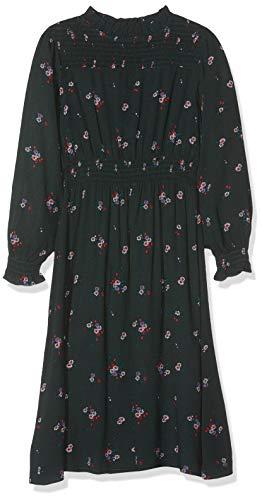 NAME IT Mädchen NKFLUCIA LS Long Dress Kleid, Mehrfarbig (Green Gables Green Gables), (Herstellergröße: 128)